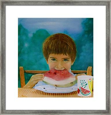 Watermelon Time Framed Print
