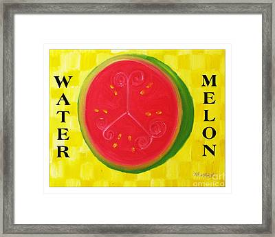 Watermelon Time Framed Print by Nathan Rodholm