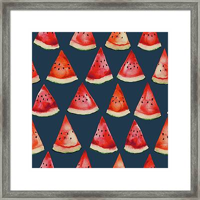 Watermelons Framed Print by Varpu Kronholm