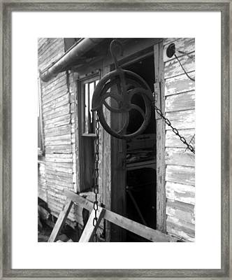 Waterpulley Framed Print by Curtis J Neeley Jr