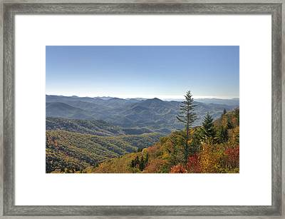 Waterrock Knob On Blue Ridge Parkway Framed Print by Darrell Young