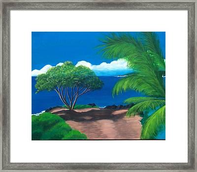 Water's Edge Framed Print by Nancy Nuce