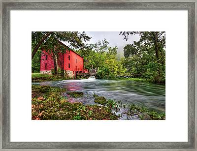 Waters Of Alley Spring Mill  Framed Print by Gregory Ballos