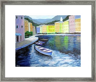 Waters Of Portofino  Framed Print