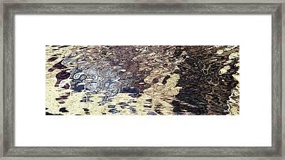 Water's Rippled Emotion  Framed Print
