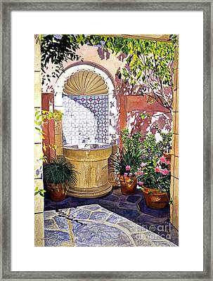 Watersounds Framed Print by David Lloyd Glover