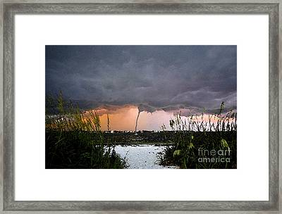 Waterspout Over Pass A Grill Framed Print by David Lee Thompson