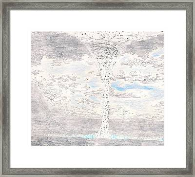 Waterspout Framed Print