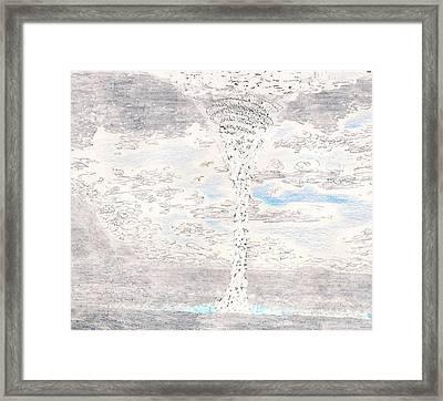 Waterspout Framed Print by Al Goldfarb