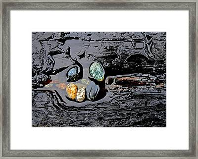 Water,stones And Wood Framed Print