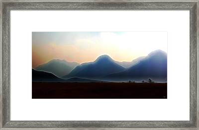 Waterton - Mountain Panorama Framed Print by Stuart Turnbull