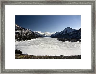 Waterton In Winter Framed Print