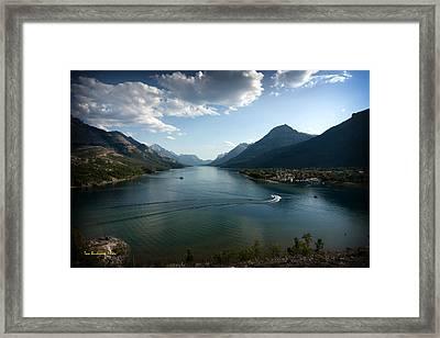 Waterton Lake Framed Print