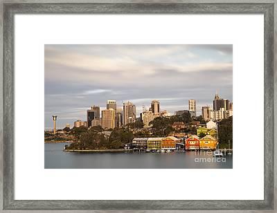 Waterview Wharf Workshops Framed Print