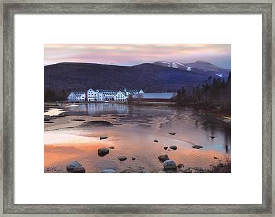 Waterville Valley Sunset Framed Print by Nancy Griswold
