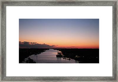 Waterway Sunset #1 Framed Print