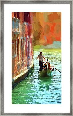 Waterways Of Venice 3 Framed Print