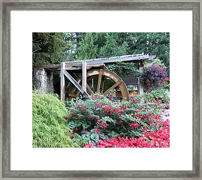 Waterwheel Framed Print