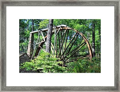 Waterwheel Framed Print by Johann Todesengel