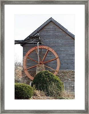 Waterwheel Of Old Framed Print by Linda A Waterhouse