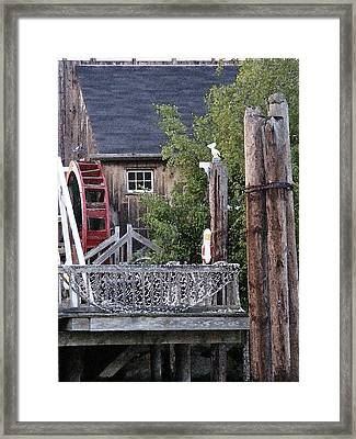 Framed Print featuring the photograph Waterwheel Office Building by Margie Avellino