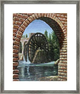 Waterwheels  Framed Print