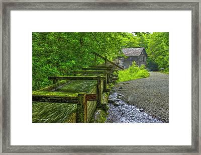 Waterworks Mingus Mill Mingus Creek Art  Great Smoky Mountains Art Framed Print by Reid Callaway