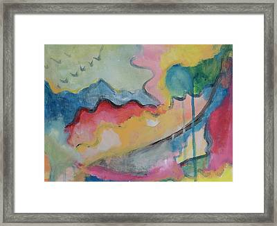 Framed Print featuring the digital art Watery Abstract by Susan Stone