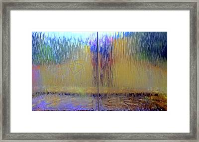 Framed Print featuring the photograph Watery Rainbow Abstract by Nareeta Martin