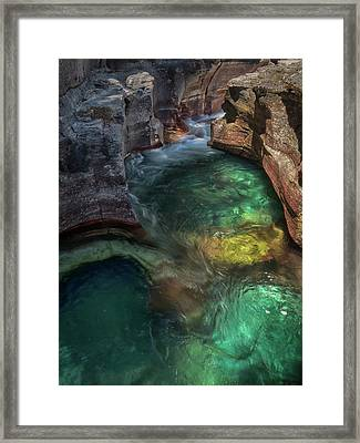 Watery Rainbow Framed Print