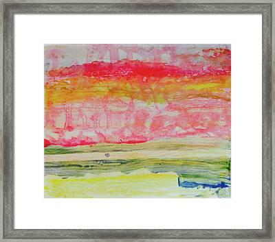 Watery Seascape Framed Print