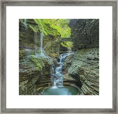 Framed Print featuring the photograph Watkins Glen 07 Panorama by Jim Dollar