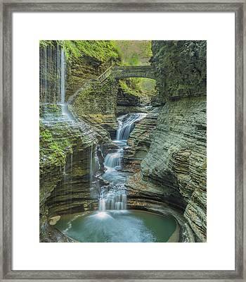 Framed Print featuring the photograph Watkins Glen 08 Panorama by Jim Dollar