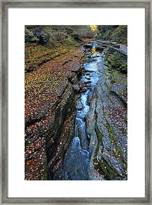 Watkins Glen Abstract Framed Print by Jessica Jenney