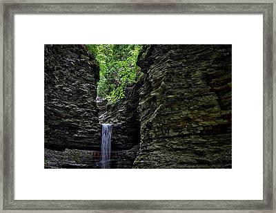 Watkins Glen Cavern Cascade Waterfall #2 Framed Print by Stuart Litoff