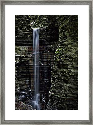 Watkins Glen Cavern Cascade Waterfall #3 Framed Print by Stuart Litoff