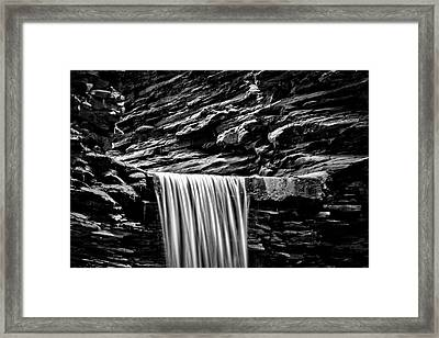 Watkins Glen Cavern Cascade Waterfall #4 Framed Print by Stuart Litoff