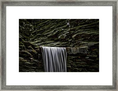 Watkins Glen Cavern Cascade Waterfall Framed Print by Stuart Litoff