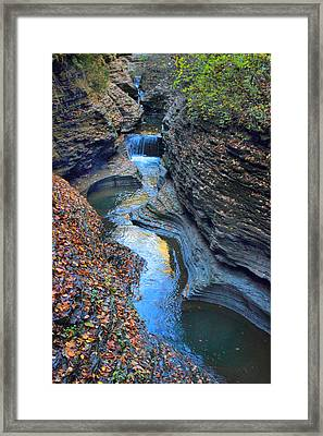 Watkins Glen Creek Framed Print by Jessica Jenney