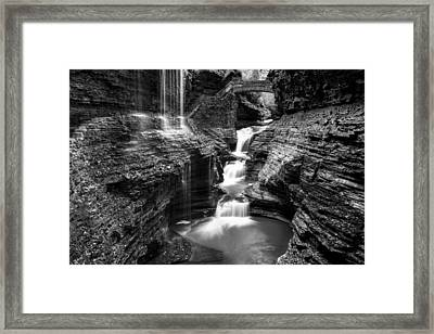 Watkins Glen Rainbow Falls #2 Framed Print by Stephen Stookey