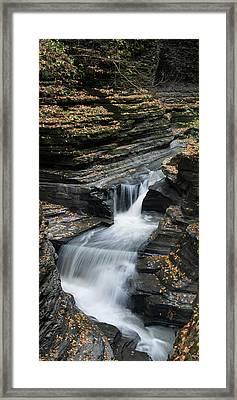 Framed Print featuring the photograph Watkins Glen Rapids by Joshua House