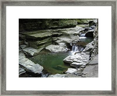 Framed Print featuring the photograph Watkins Glen State Park by John Schneider