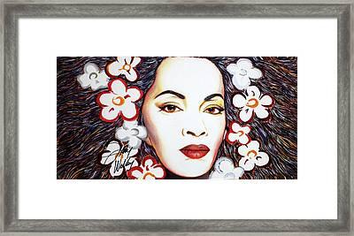 Watley's Flower Framed Print
