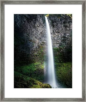 Watson Falls Framed Print by Leland D Howard