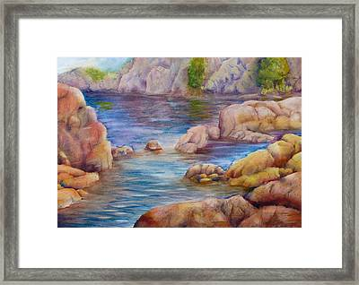 Watson Lake 2 Framed Print by Melanie Harman