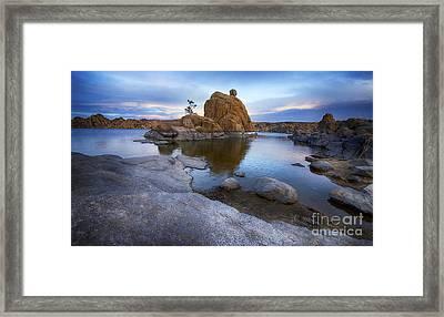 Watson Lake Arizona 14 Framed Print by Bob Christopher