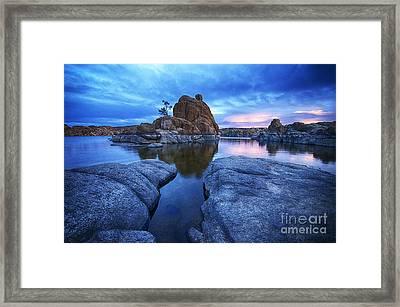Watson Lake Arizona 4 Framed Print by Bob Christopher