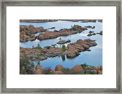 Watson Lake Arizona Fingerlings Number 2 Framed Print