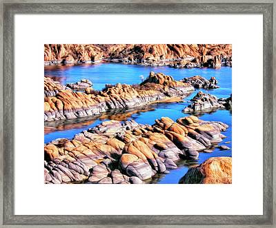 Watson Lake At Prescott Az Framed Print by Dominic Piperata