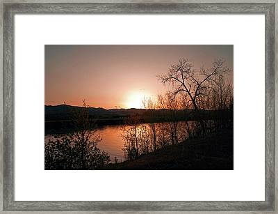 Watson Lake At Sunset Framed Print by James Steele